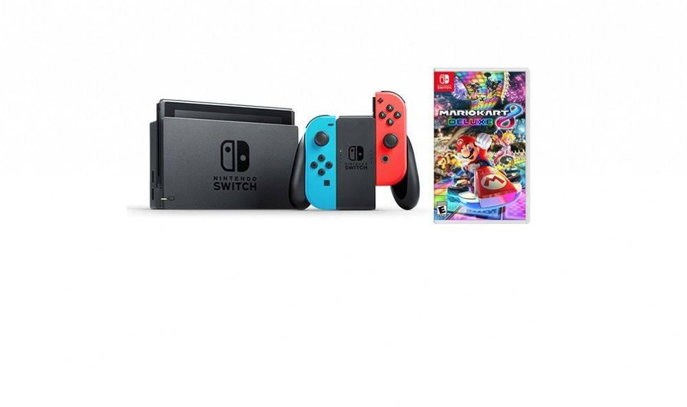 Nintendo Switch + Mario Kart 8 Game