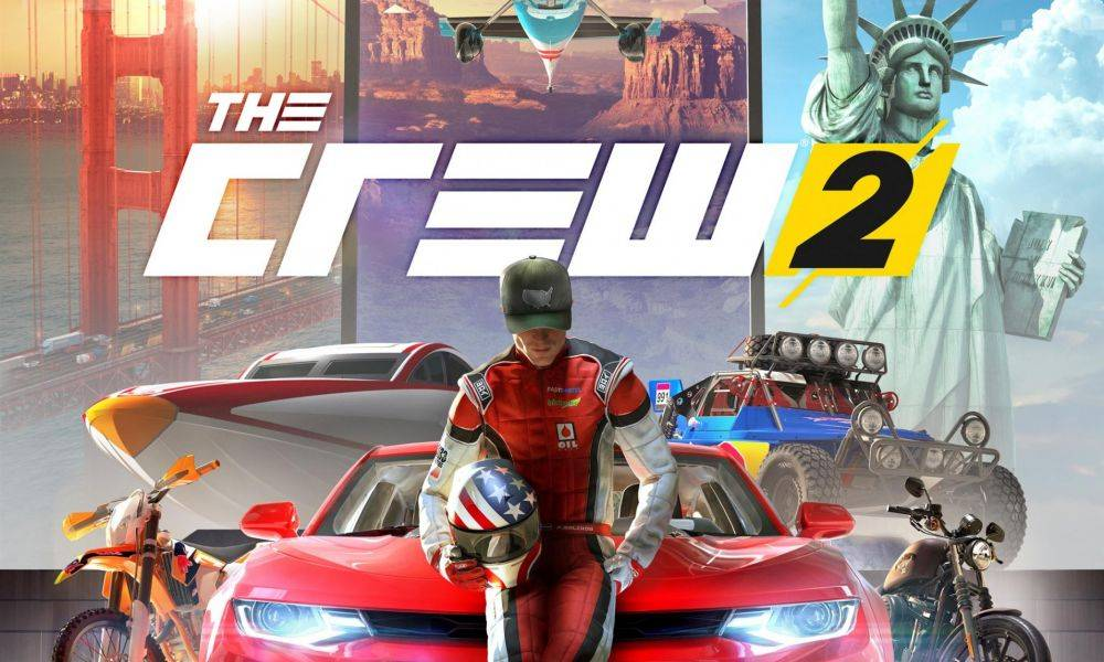 A copy of The Crew 2