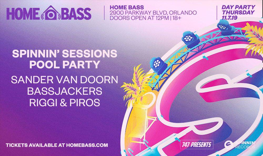 Two tickets to the Spinnin' Sessions Pool party in Orlando!