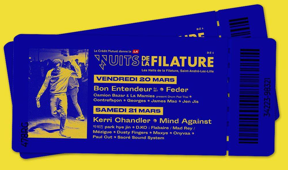 Two tickets to Les Nuits de la Filature 2020 in Lille, France