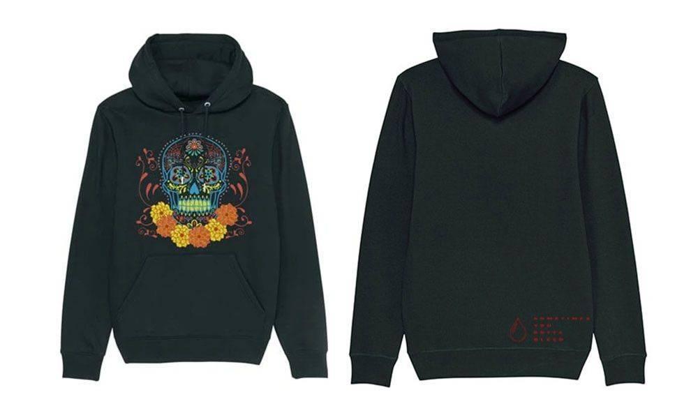 Faustix skull hoodie