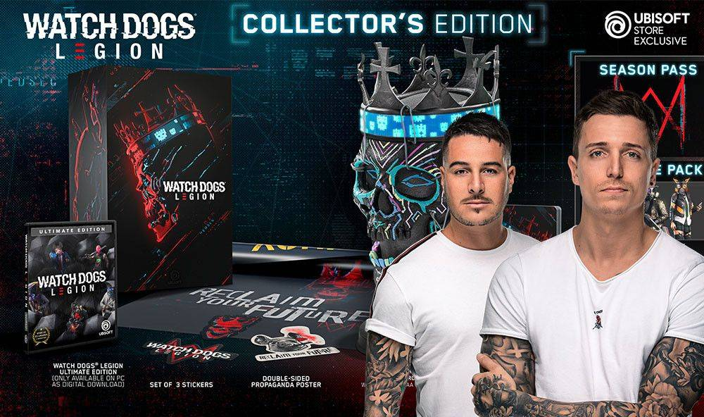 Watch Dogs: Legion Collector's Edition and a Watch Dogs gaming session with Blasterjaxx