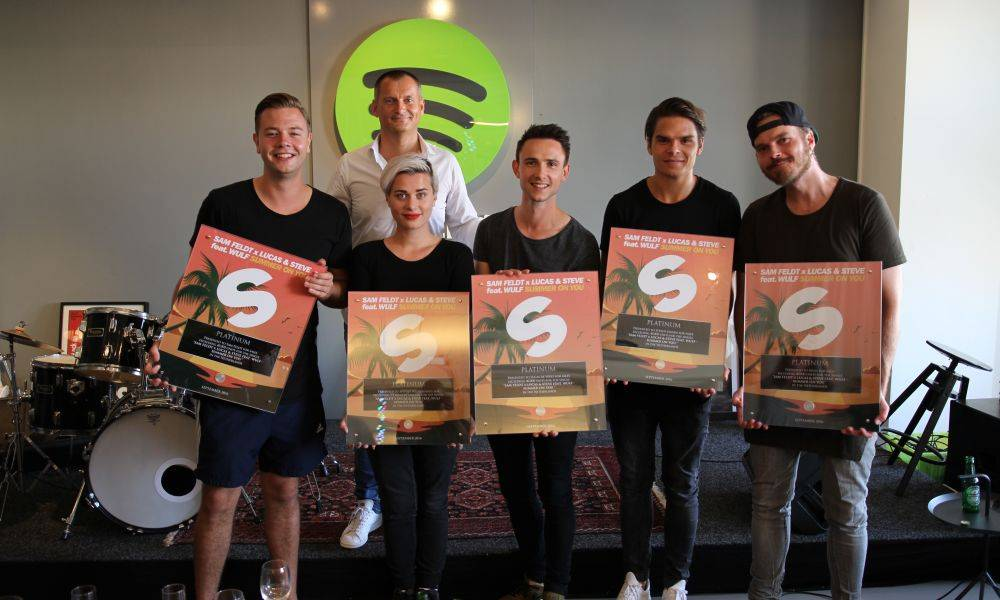 Sam Feldt and Lucas & Steve receive platinum record for 'Summer On You'