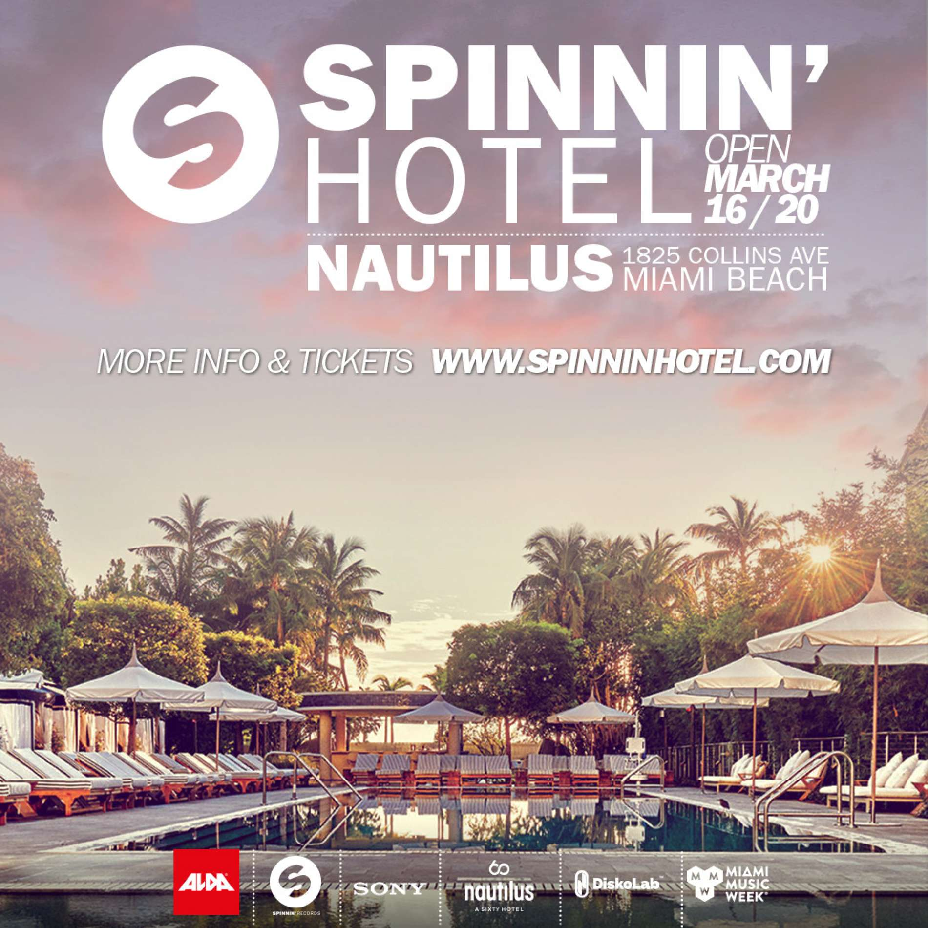 Spinnin' Hotel line-ups are here!